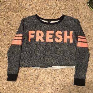 FRESH fleece lined crop top.